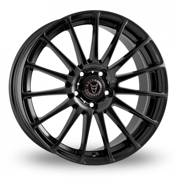 18 Inch Wolfrace Turismo Gloss Black Set of 4 alloy wheels Delivered